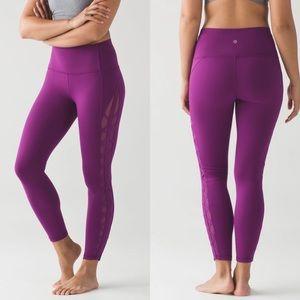 lululemon High Times (Rhythm) Legging Purple Sz4